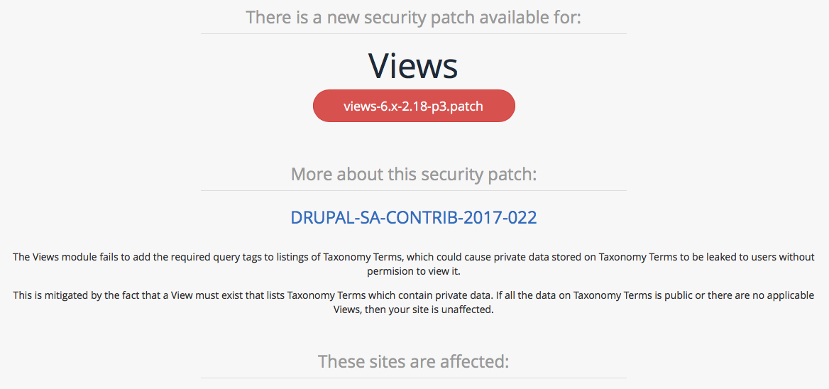 Security Monitoring for Drupal 6, 7, and 8 | Tag1 Consulting